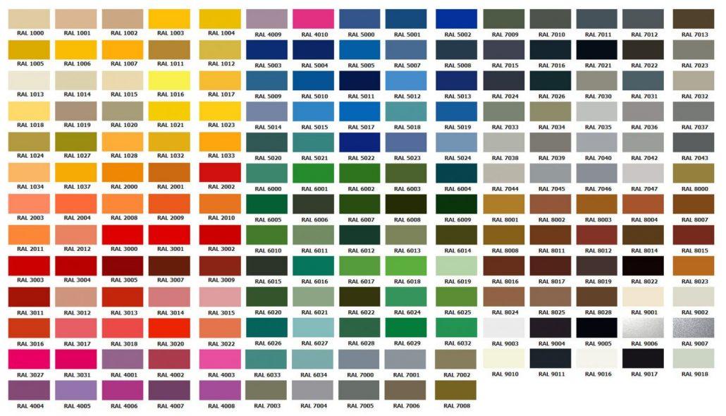 Decoratime Fiber Saksı Renk Kartelası